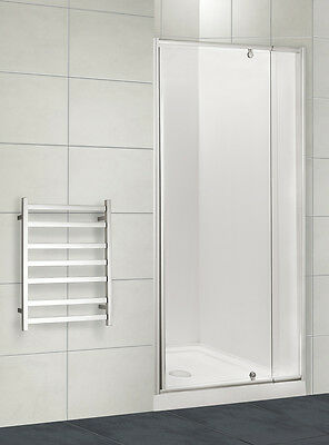 New 1020 - 1100 Wall to Wall shower screen, Safety Glass Semi frameless