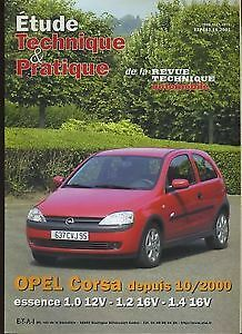 Revue technique OPEL CORSA essence 1.0 12v 1.2 16v 1.4 16v RTA ETP643.10.2001