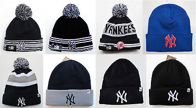 e8ea50379cce6a NY YANKEES CUFFED Beanie Winter Cap Hat MLB Authentic - $14.99 ...