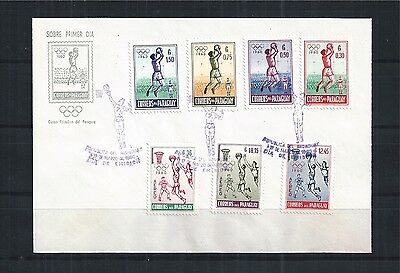 PARAGUAY FDC 1960 MiNr: 834 - 840 OLYMPIC GAMES