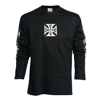 West Coast Choppers Og Cross Long Sleeve Black **100% Genuine**