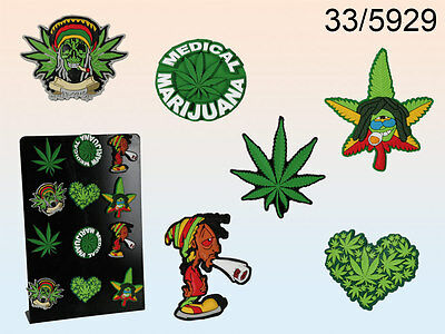 Cannabis Weed Design Rubber Fridge Magnets - Various Designs (WH)