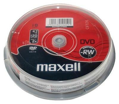 Maxell DVD-RW 10 Pack Spindle 1-6x Speed 4.7GB 120Mins