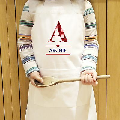 Personalised Boys Initial Kids Apron - Bake Off - Free Delivery