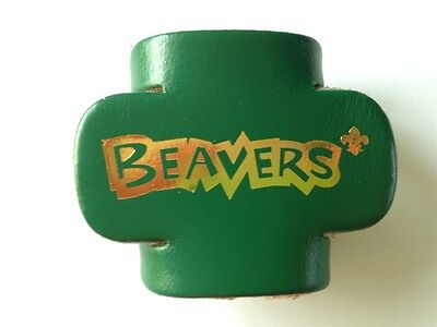 Beavers Leather Woggle    All Colours