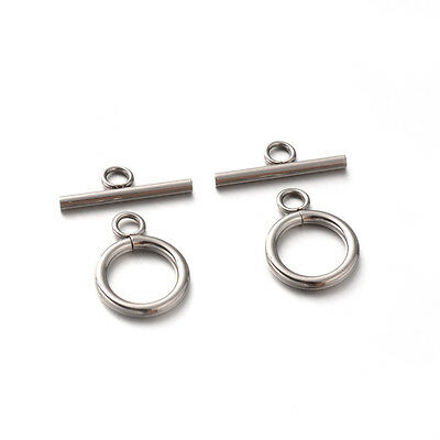 10 stainless steel toggle clasps Won't rust or tarnish Jewelry Bracelet Necklace