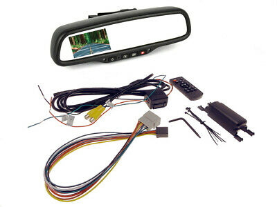 "OnStar Auto Dimming Mirror, 4.3"" Backup Monitor for GM"