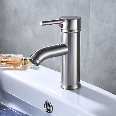 Chrome Bathroom Waterfall Basin Faucet LED Spout Sink Mixer Tap Deck Mounted