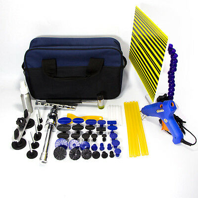 53pc Paintless Dent Lifter Glue Puller Removal Kit Car Body Repair PDR Tools Tap