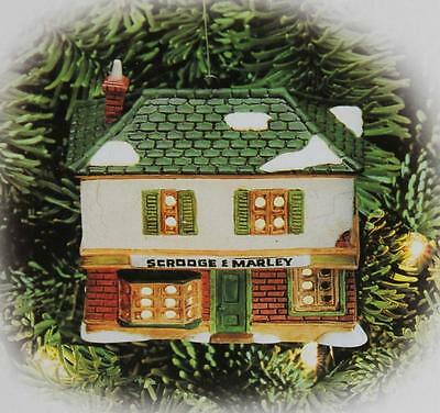 "Department 56 ""SCROOGE & MARLEY COUNTING HOUSE"" Light Up Christmas Ornament NIB"