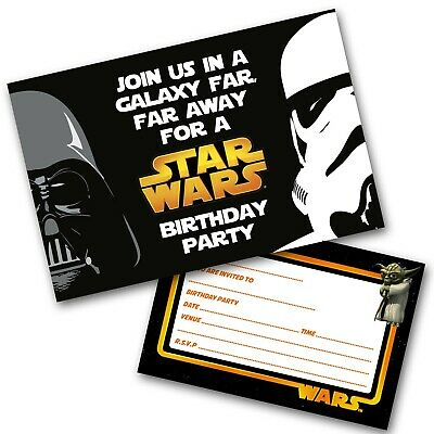 Star Wars Personalised Party Invitations Birthday Invites Free Envelopes