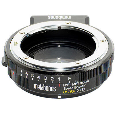 Metabones Speed Booster Ultra 0.71x Adapter for Nikon F-Mount Lens to Micro 4/3