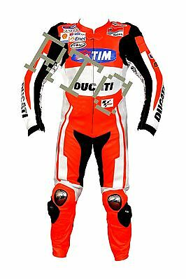 Ducati Andrea Doviziosoi Mens motorbike Racing Leather One Piece Suit