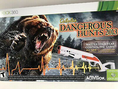XBOX 360 Cabela's Dangerous Hunts 2013 Bundle with Gun - BRAND NEW SEALED