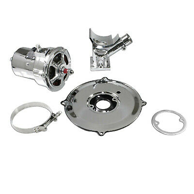 VW Chrome Alternator Conversion Kit 12 Volts 75 Amp (Early Bug /Ghia/Bus/Type 1)