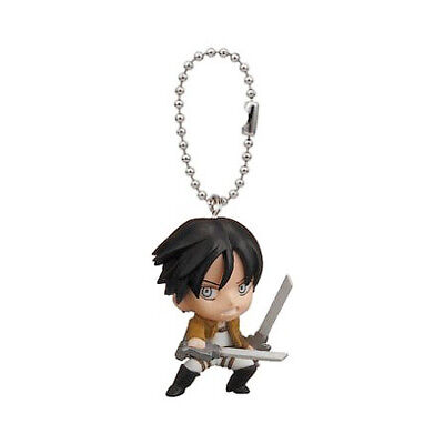 Attack on Titan Mascot Anime PVC Keychain SD Fighting Figure~ Eren Yeager @13121