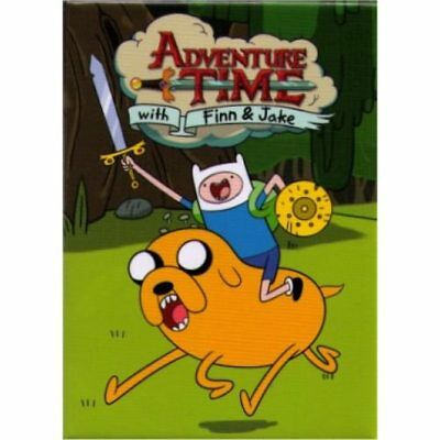Adventure Time Finn And Jake Charge Magnet
