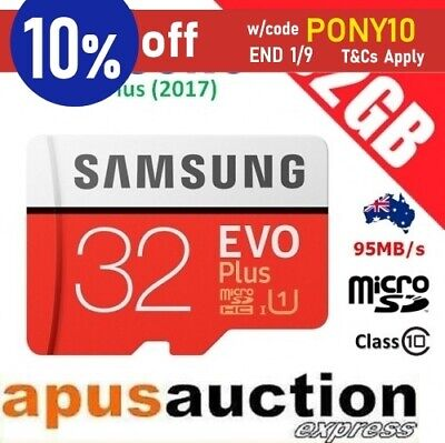 Samsung 32GB EVO Plus Class 10 95MB/s Micro SD MicroSDHC TF Memory Card Full HD