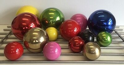 Coloured stainless steel gazing/ garden/ home decor balls