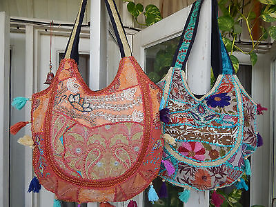 5 Pcs Handmade Banjara Boho Bohemian Indian Tribal Tote Vintage Bag Wholesale