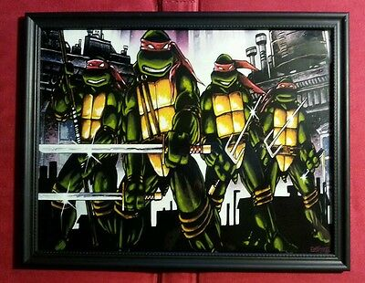 Teenage Mutant Ninja Turtles TMNT Vintage Retro Comic Book Framed Art Print Gift