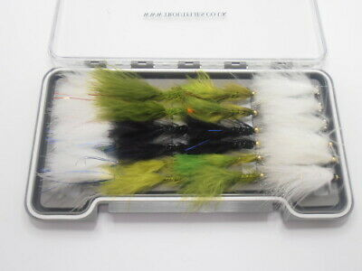 Cats Whisker and Flash Damsel Flies, 24 Per Box, Good selection, For Fly Fishing