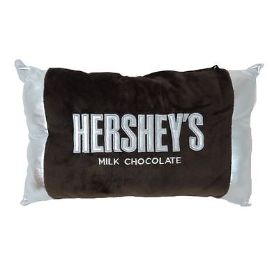 Hershey Bar Embroidered Plush Pillow With Foil Ends Officially Licensed