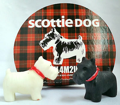😊 2 x Scottie Dog Hunde Westhighland Terrier Scotty Dog`s