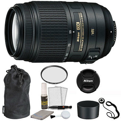 Nikon AF-S DX NIKKOR 55-300mm f/4.5-5.6G ED VR Lens for D3300 D3400 D5300 D5500