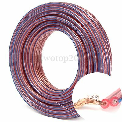 20M Metre 2 x 0.75mm Multi-Strand Loud Speaker Cable/Wire for Car Home Audio Red