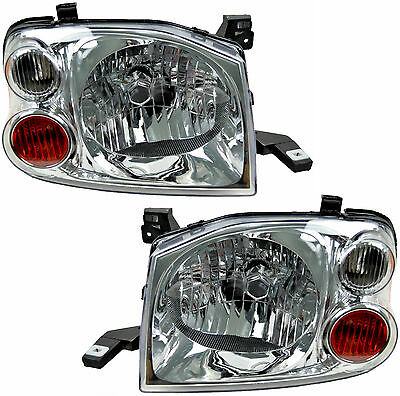 Pair Headlights Nissan Navara 10/01-14 New D22 Ute Lamps 01 02 03 04 05 09 10 11