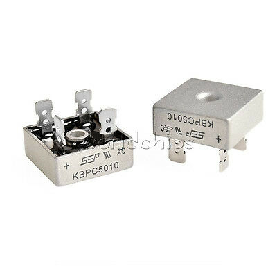 50A 1000V Metal Case Single Phases Diode Bridge Rectifier KBPC5010 WC