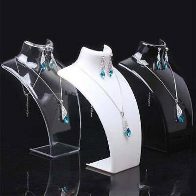 2X 210MM High Necklace Stand Jewellery Retail Shop Tall Display Busts Holder UK