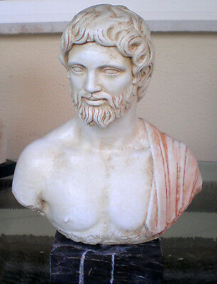 Asclepius God of Medicine Healing - Greek Mythology- Health God Bust-Asclipios