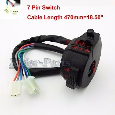 3 Fuctions 7 Wires Left Handle Control Switch For Assembly ATV Quad MotorCycle