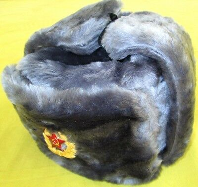 Russian Army Winter Hat+Insignia/NEW/Big size/FREE SHIPPING IN US