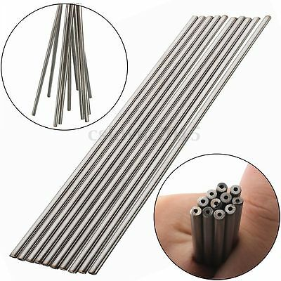 2Pcs 304 Stainless Seamless Steel Capillary Tube OD 3mm x 1mm ID, Length 250mm