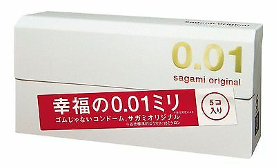 New Sagami Original 001 Regular Ultra Thin 0.01mm Polyuretha Condom 5 pcs Japan