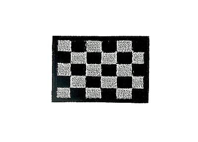Patch ecusson brode backpack drapeau flag damier course auto moto thermocollant