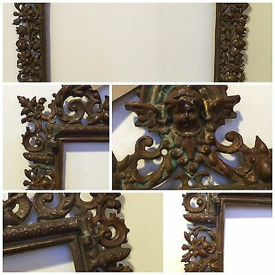 Antique Georgian Brass Mirror Frame C1800 Rococo French