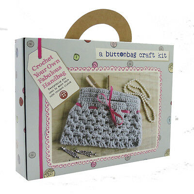 Buttonbag Crochet A Handbag Kit Perfect For Children Age 10 +