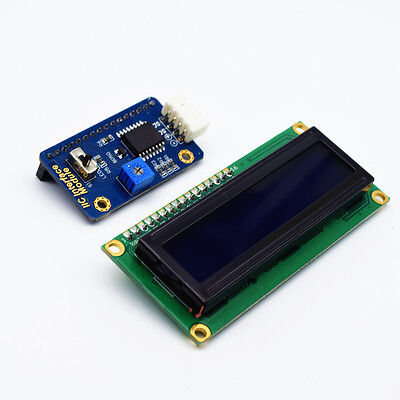 Adeept IIC/I2C Interface with Blue Backlight LCD 1602 for Arduino Raspberry Pi