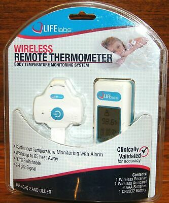 Life Labs Wireless Thermometer Remote Temperature Monitoring System for Ages 2+