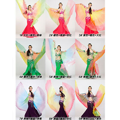 Cosplay Costume Gradient Color Colorful Angel Isis Wing Belly Dance Rainbow Wing