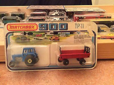 Matchbox Two Pack Tp-11, Tractor And Hay Trailer, Still Sealed