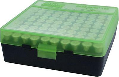 MTM Case-Gard Handgun Ammunition Ammo Storage Box 100 Round P-100-9 Green Black