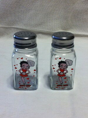 Betty Boop Kitchen Glass Salt & Pepper Set- Brand New