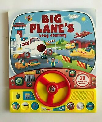Big Planes Long Journey Sound Book With 11 Fun Action Sounds Ages 0 months+ New