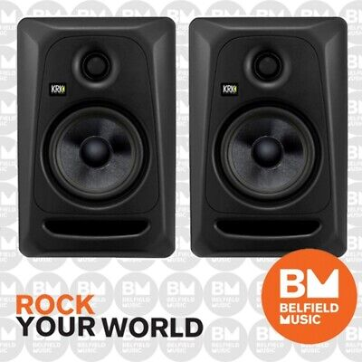 "2 x KRK Rokit 5 G3 Stealth Edition Powered Active Monitor Speaker 5"" Inch Pair"