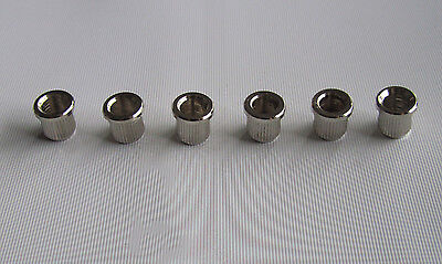 "6x Nickel Guitar String Through Body 5/16"" String Ferrules for USA Telecaster"